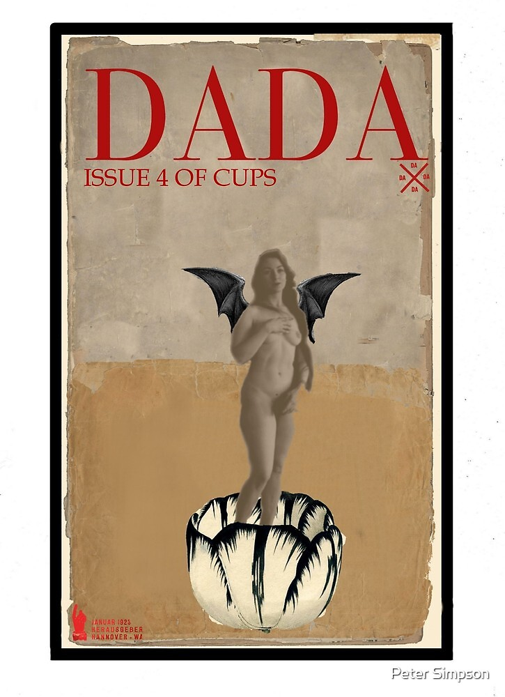 Dada Tarot- 4 of Cups by Peter Simpson