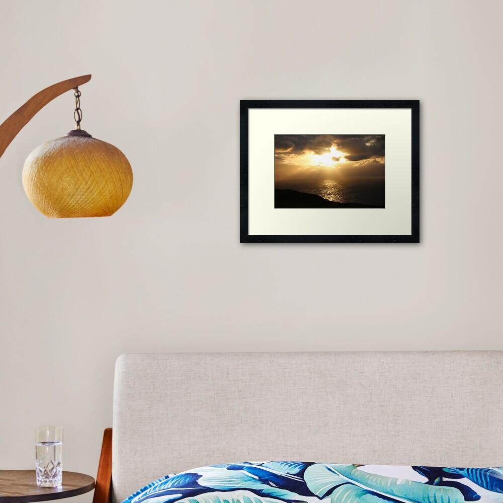 Troup sunset Framed Art Print