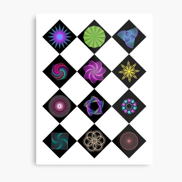 Beautiful colorful geometric rhombus shapes Metal Print
