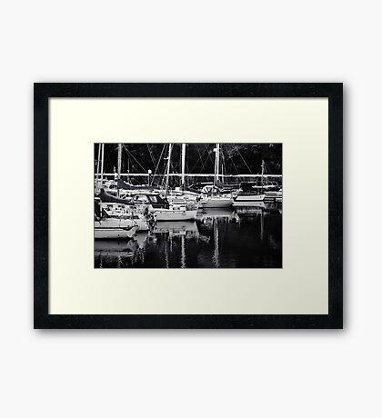 Boats at Peel Harbour Framed Print