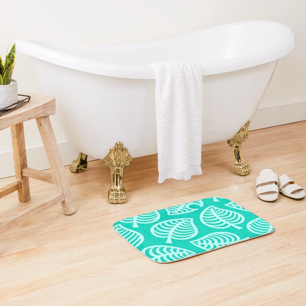 Big Nook Leaf Blue Bath Mat