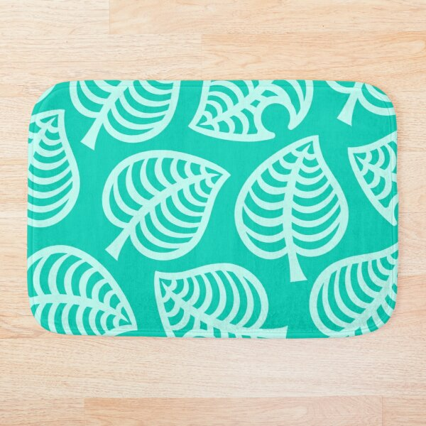 Big Nook Leaf Blue Bath Mat