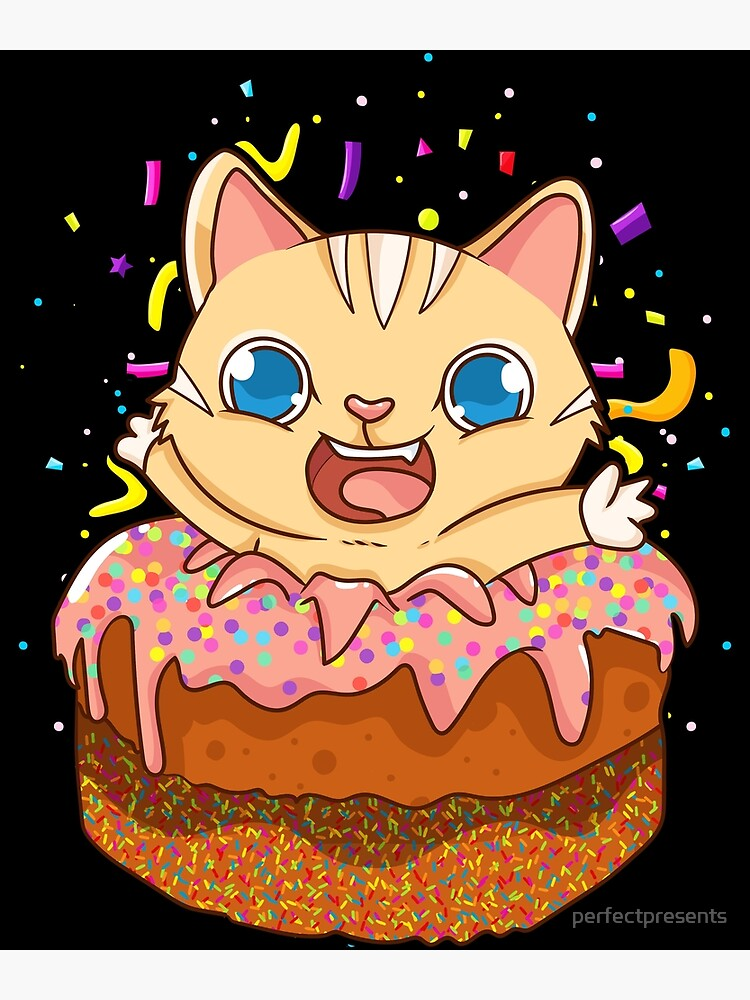 Brilliant Birthday Cake Cat Surprise Kitty Greeting Card By Perfectpresents Funny Birthday Cards Online Fluifree Goldxyz