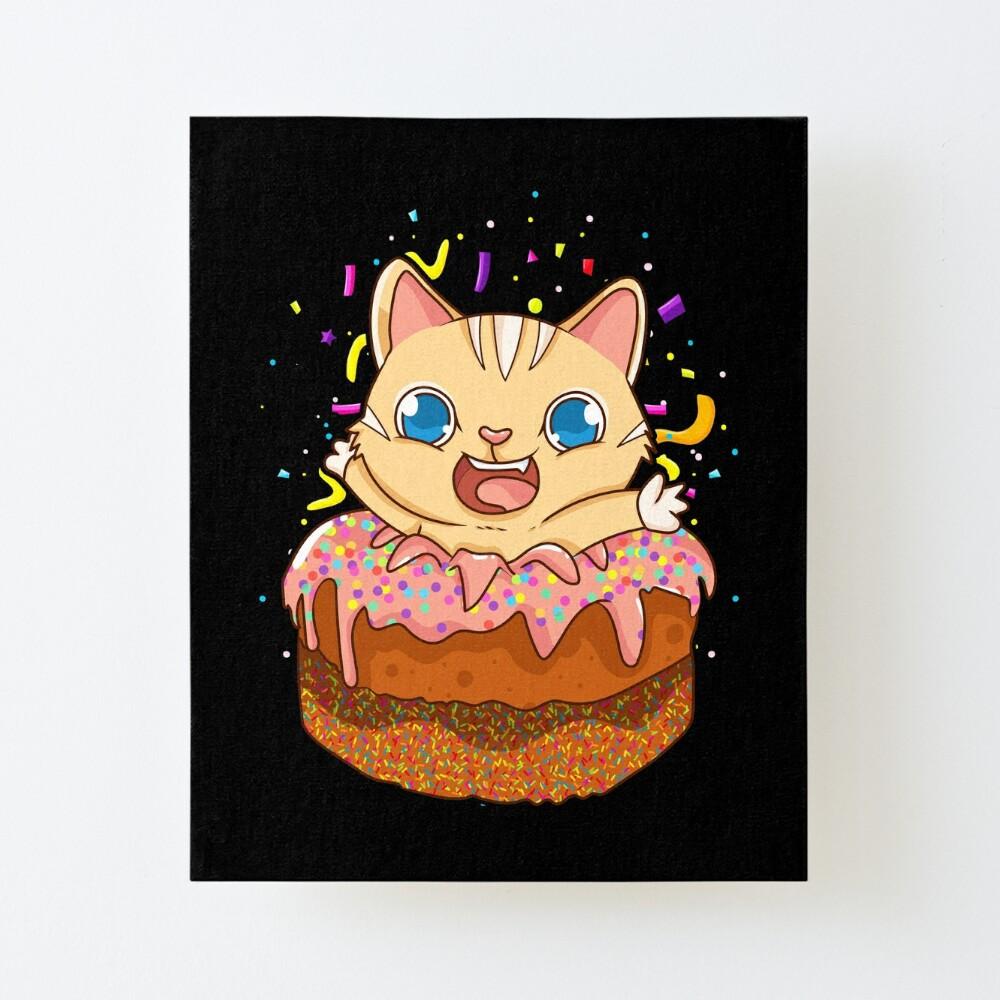 Strange Birthday Cake Cat Surprise Kitty Art Board Print By Personalised Birthday Cards Epsylily Jamesorg