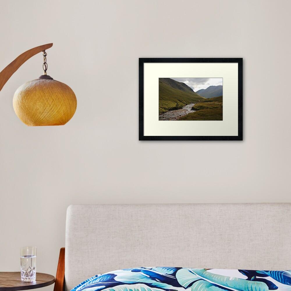 Glen Etive Framed Art Print