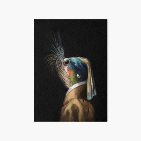 Krill WIth A Pearl Earring Art Board Print