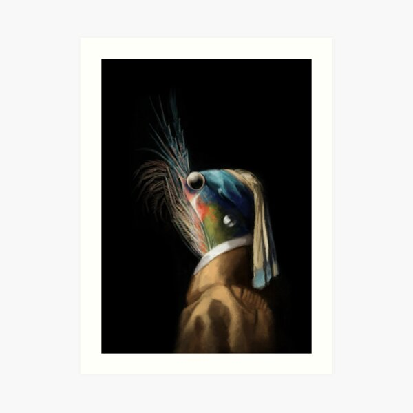 Krill WIth A Pearl Earring Art Print