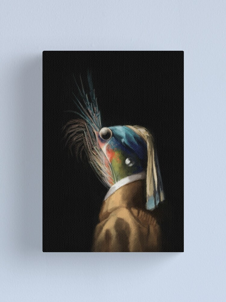 Alternate view of Krill WIth A Pearl Earring Canvas Print