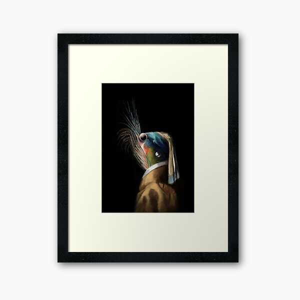 Krill WIth A Pearl Earring Framed Art Print