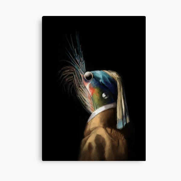 Krill WIth A Pearl Earring Canvas Print