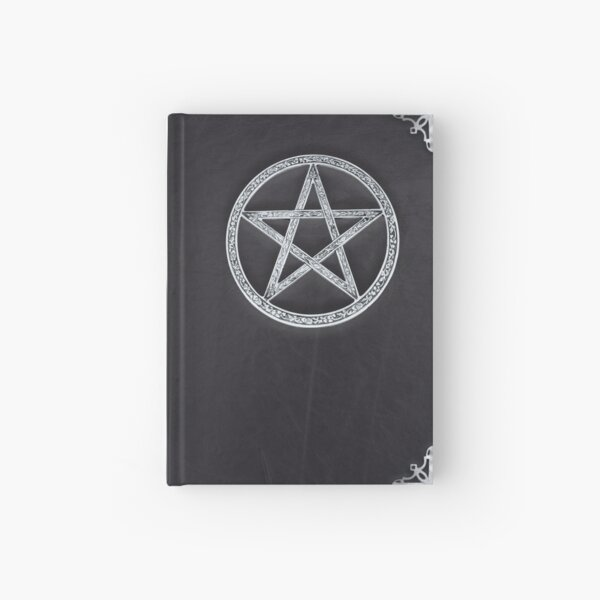 Book of Shadows - Black leather and Silver Hardcover Journal