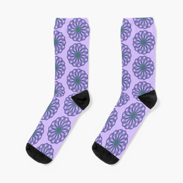 Spirograph with green and violet Socks