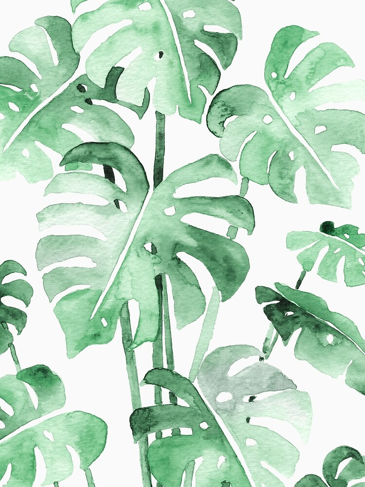 Delicate Monstera Green by Wheimay