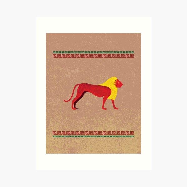 Ancient Egyptian lion Art Print