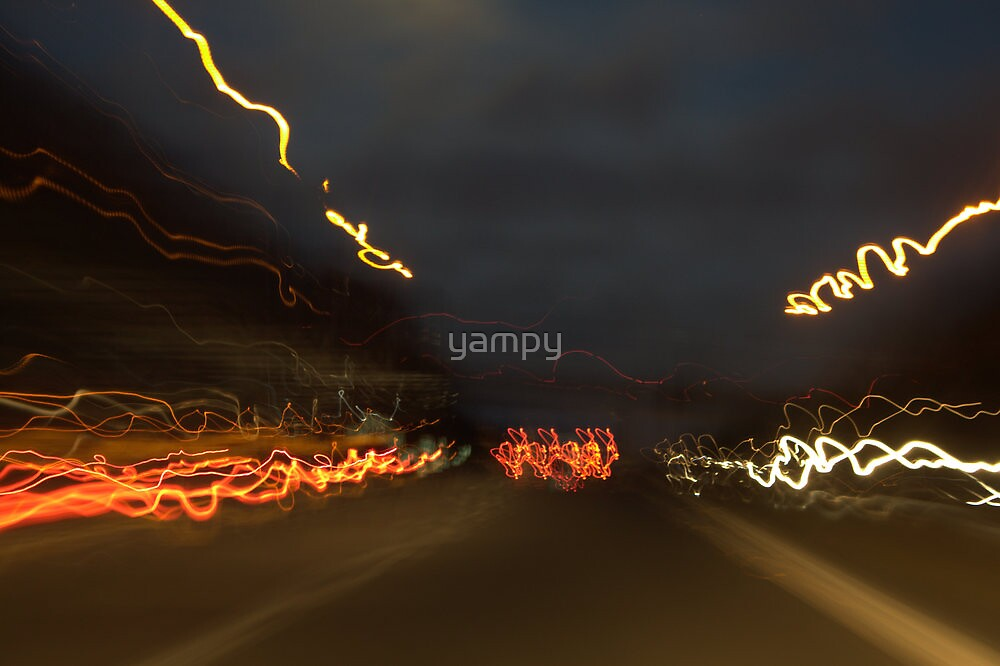 Driving at night can be fun by yampy