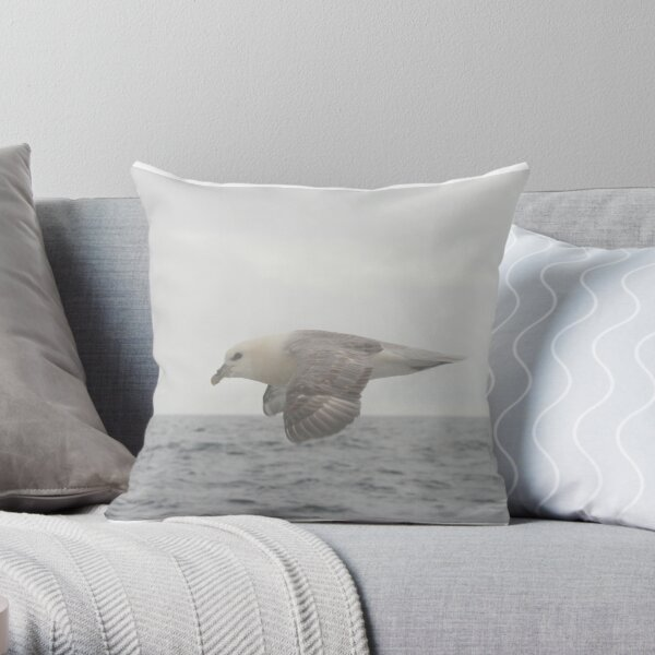 Fulmar Fly Past Throw Pillow