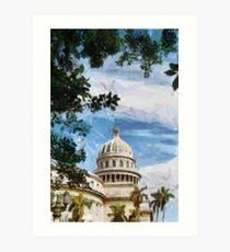 Capitolio, Havana, Cuba Art Print