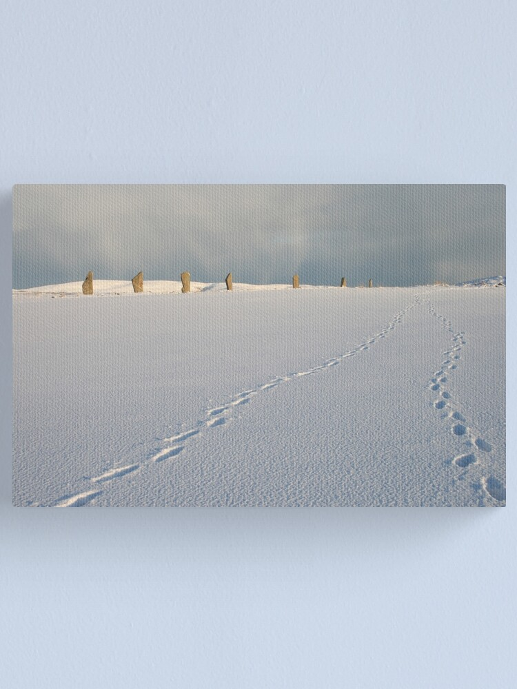 Alternate view of Footprints in the snow Canvas Print
