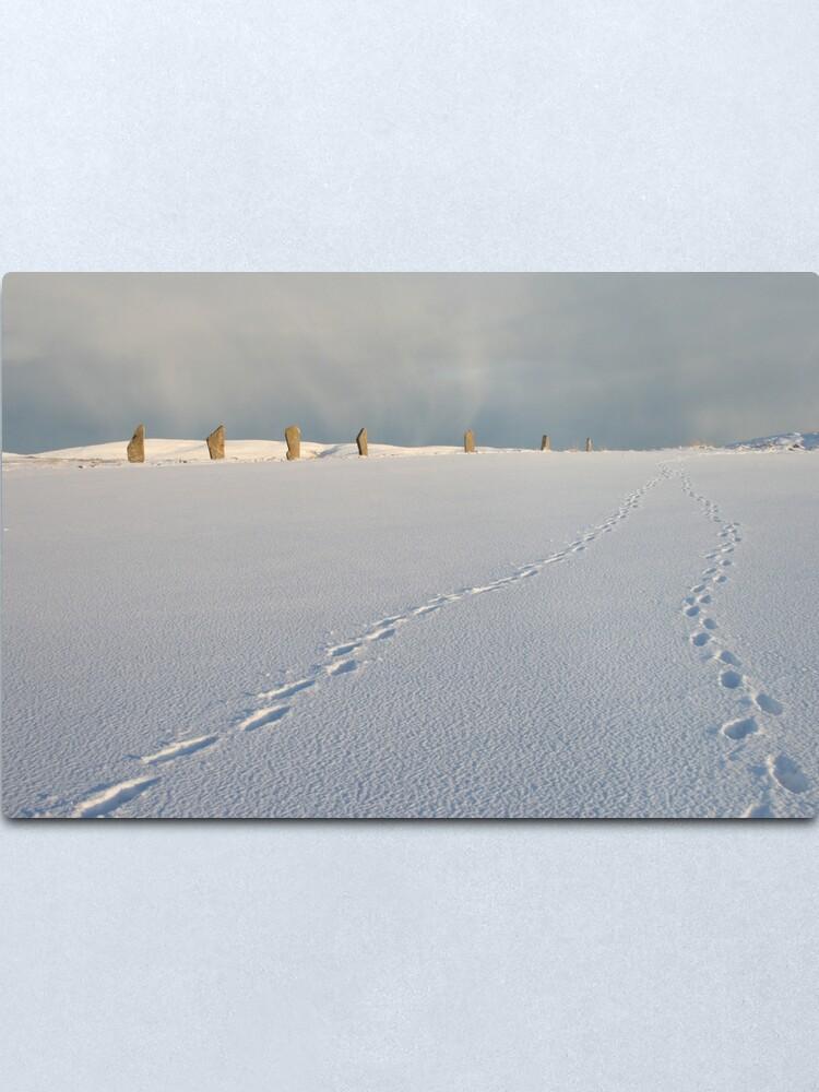 Alternate view of Footprints in the snow Metal Print