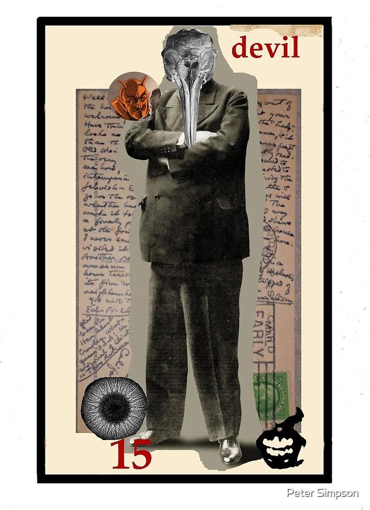 Dada Tarot- Devil by Peter Simpson