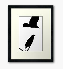 on the snag and on the wing eagles silhouette Framed Print