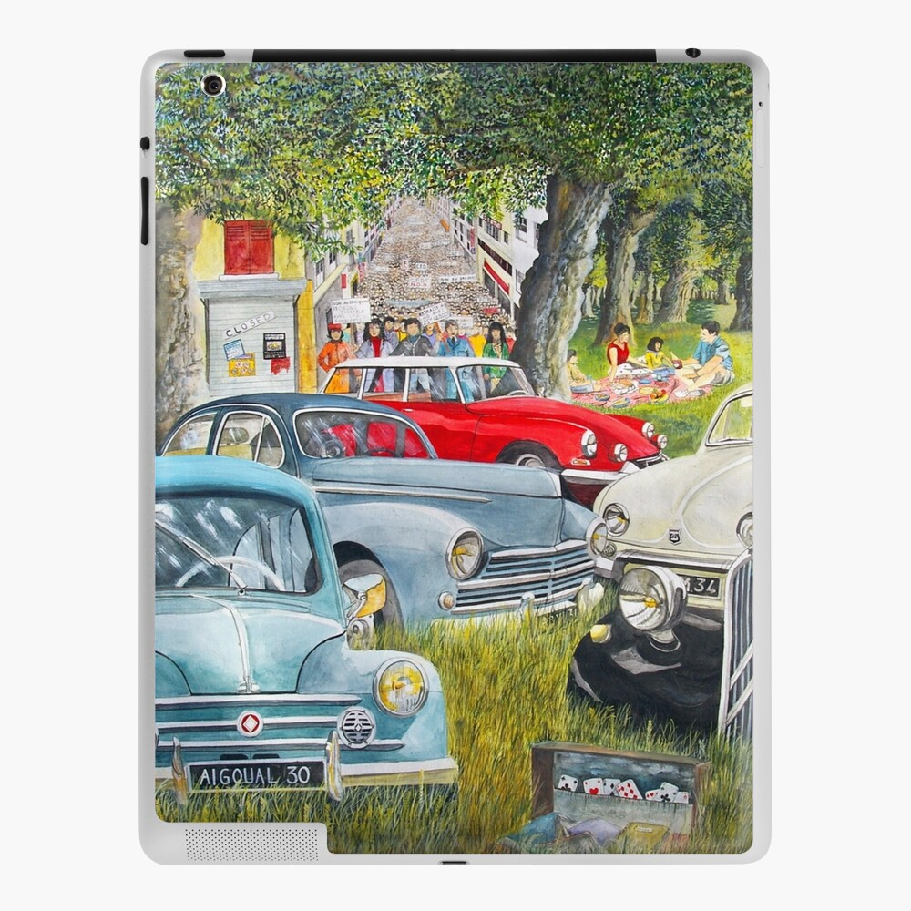 Old French Vehicles 4 Cv Ds Traction Old Cars French Cars Nice Cars Ipad Case Skin By Bastidecreation Redbubble