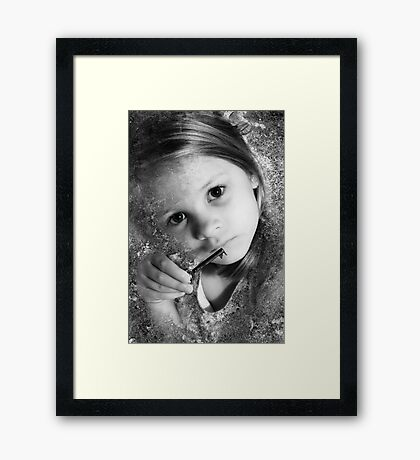 The Key To All Things, As Old As Stone And As Young As A Child Framed Print