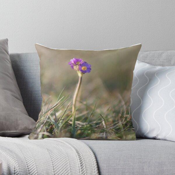 Primula Scotica Throw Pillow