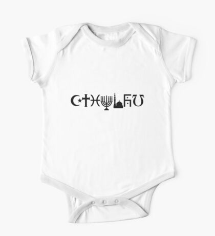 Cthulhu (black, sticker-friendly variant) Kids Clothes