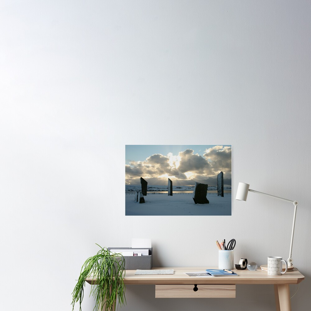 Stenness in snow Poster
