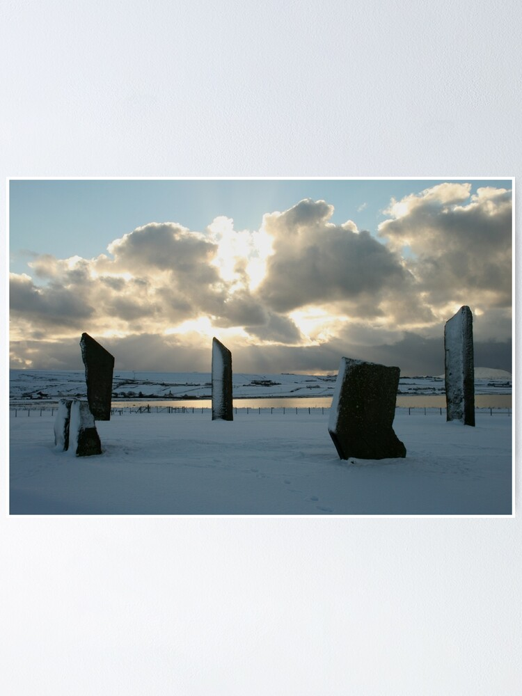 Alternate view of Stenness in snow Poster