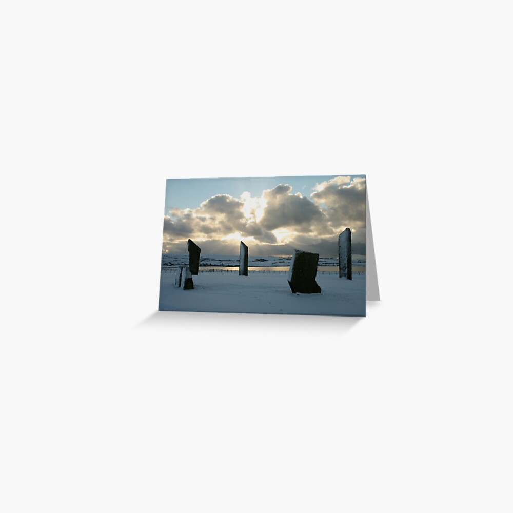 Stenness in snow Greeting Card
