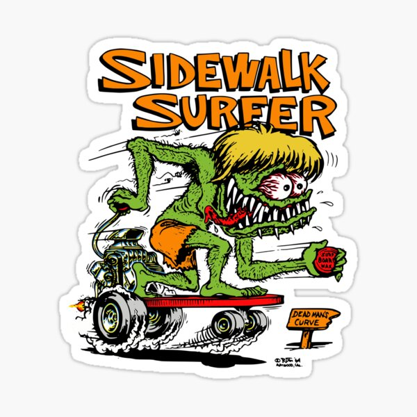 Sidewalk Surfer color Sticker