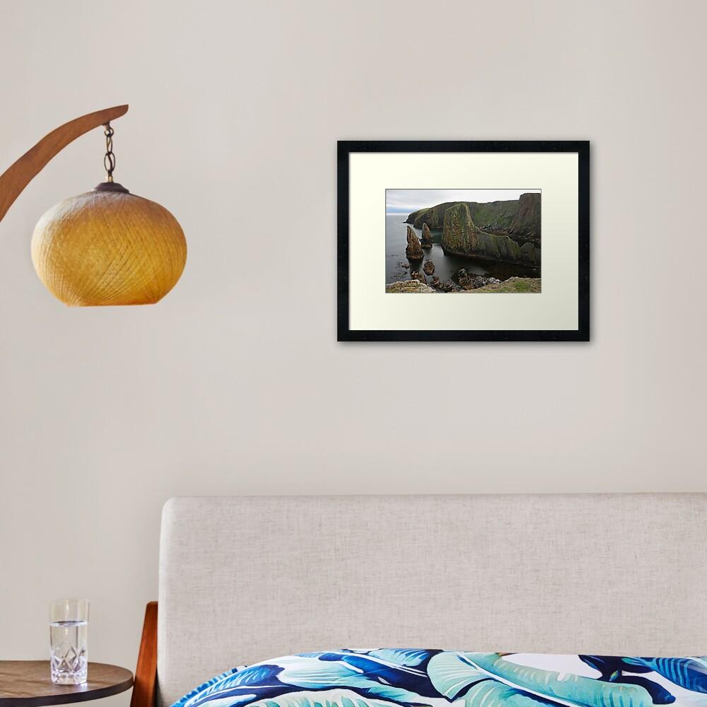 Cliffs, Westerwick Framed Art Print