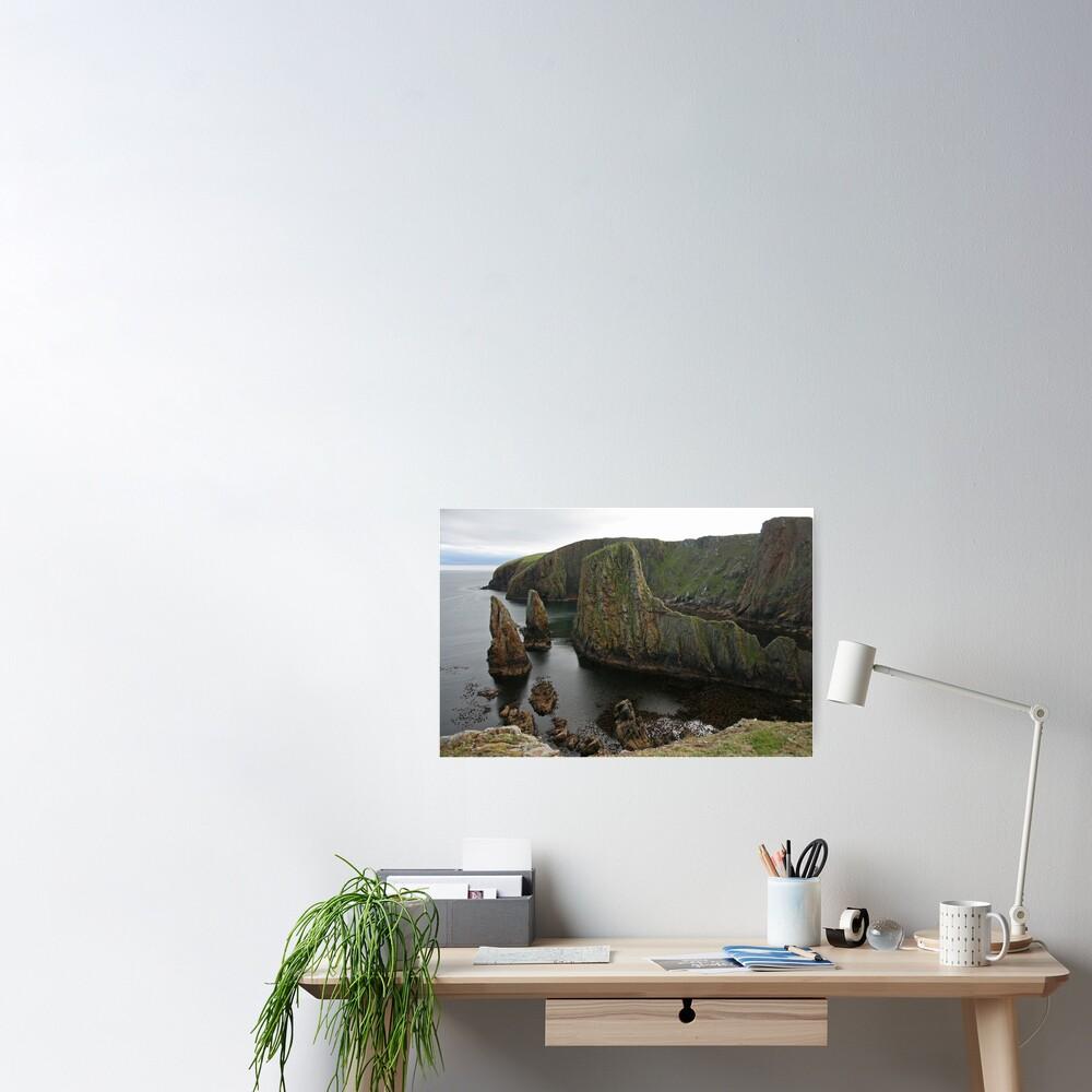 Cliffs, Westerwick Poster