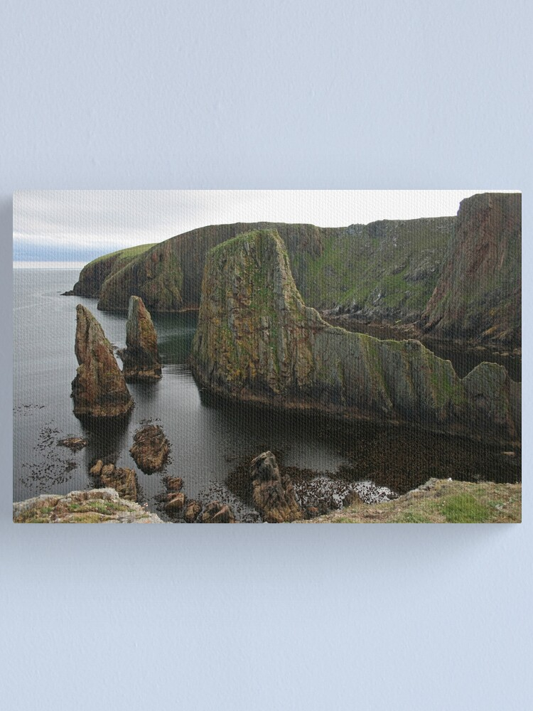 Alternate view of Cliffs, Westerwick Canvas Print