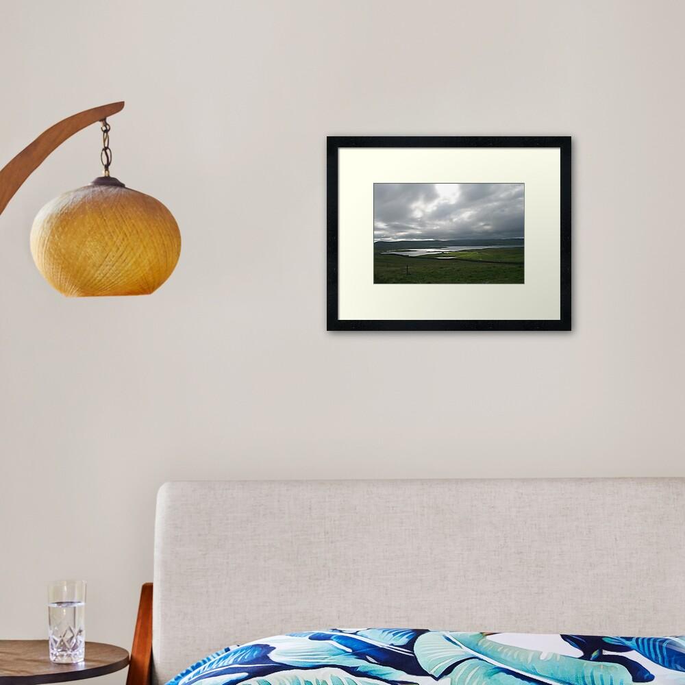 Light on the Land, Shetland Framed Art Print