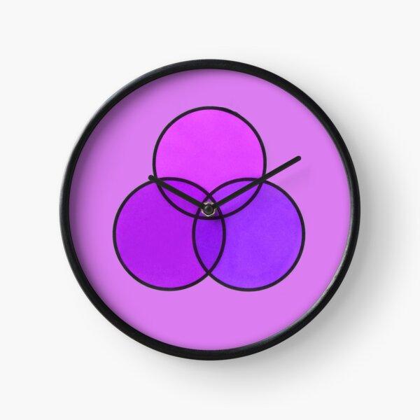 Shades of purple Clock