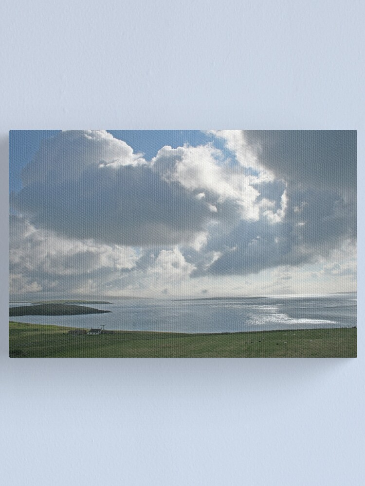 Alternate view of Clouds over Yell Sound Canvas Print