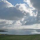 Clouds over Yell Sound by Fiona MacNab