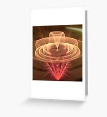 Abstract Motion, fractal abstract art Greeting Card