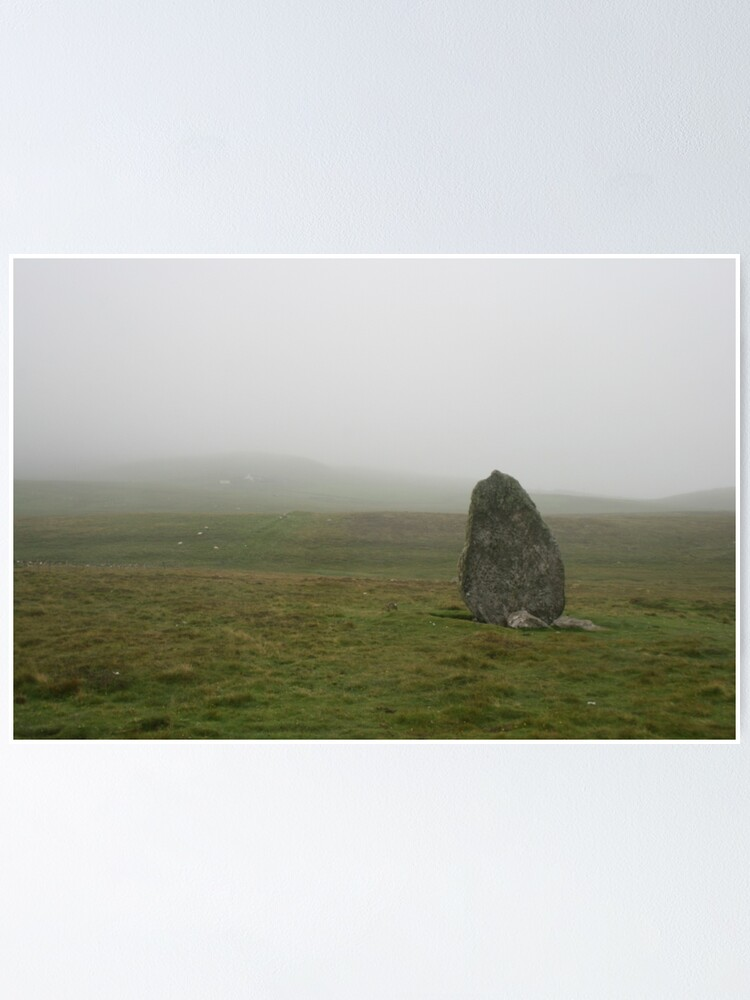 Alternate view of Standing stone, Unst Poster