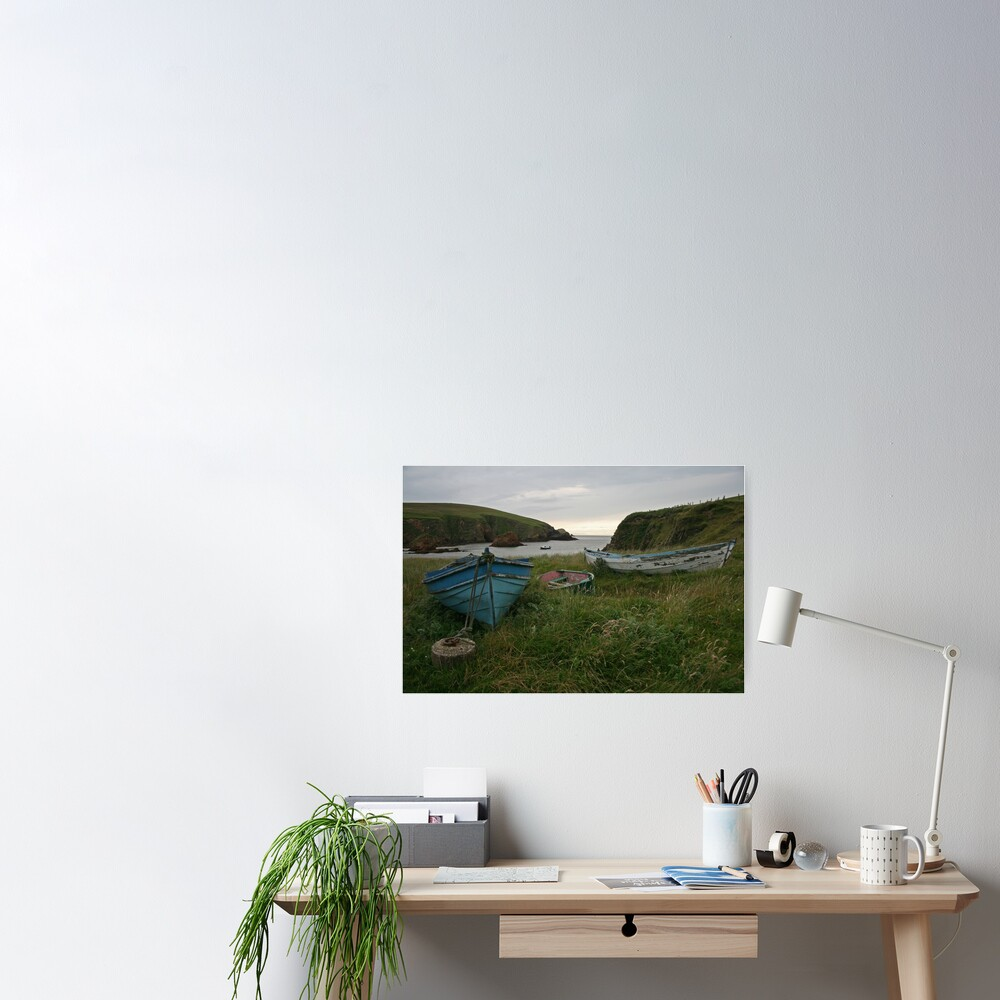 Boat nousts, Spiggie Poster