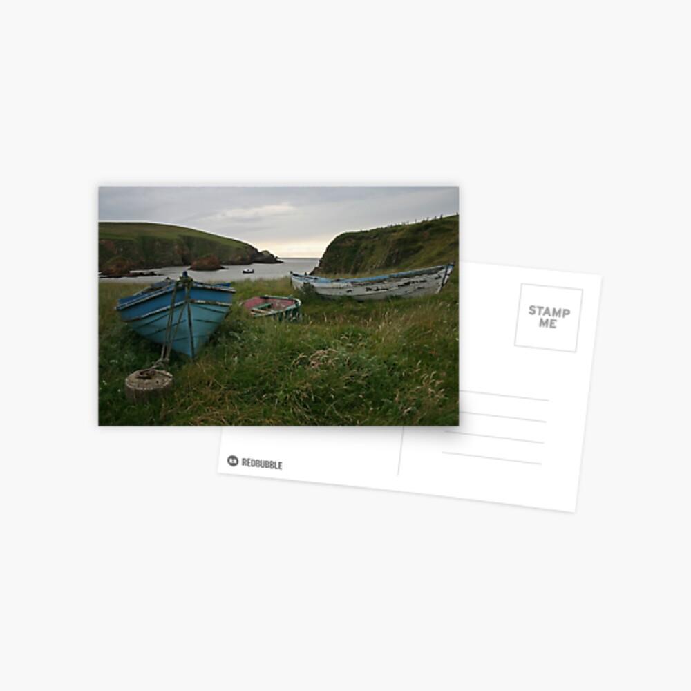 Boat nousts, Spiggie Postcard