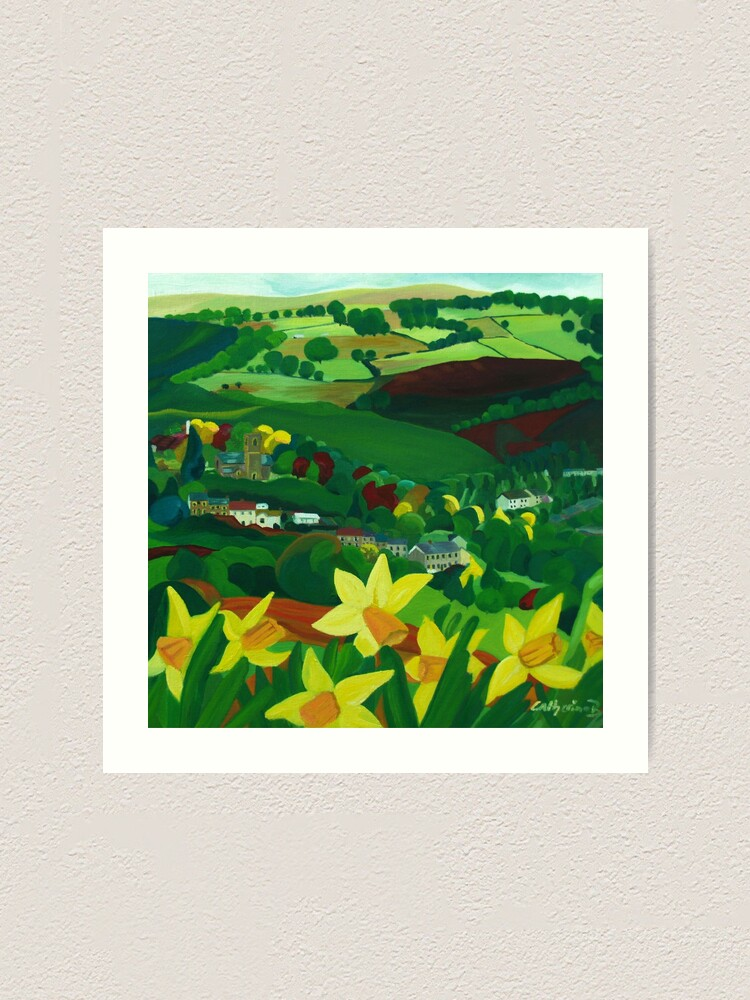 Alternate view of How green is my valley Art Print