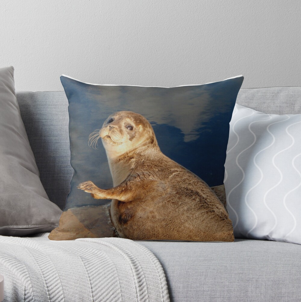 Who you lookin' at? Throw Pillow