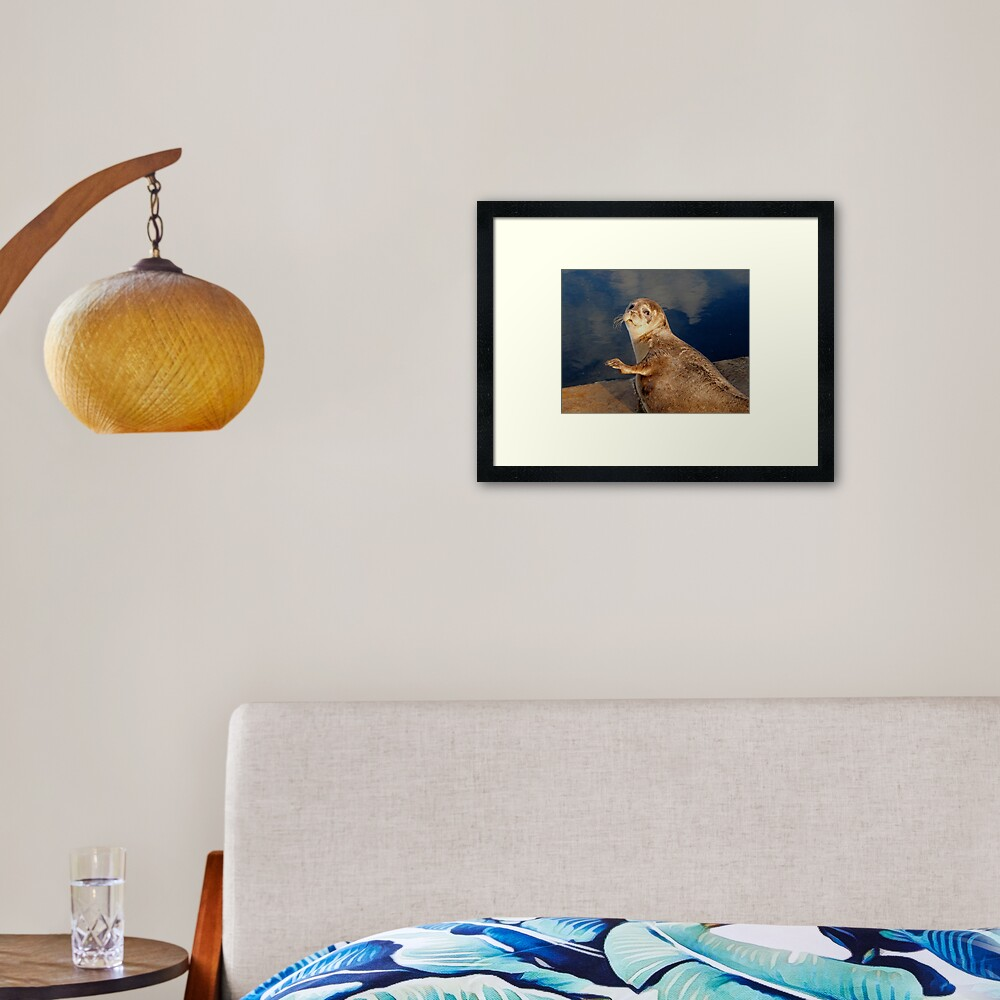 Who you lookin' at? Framed Art Print