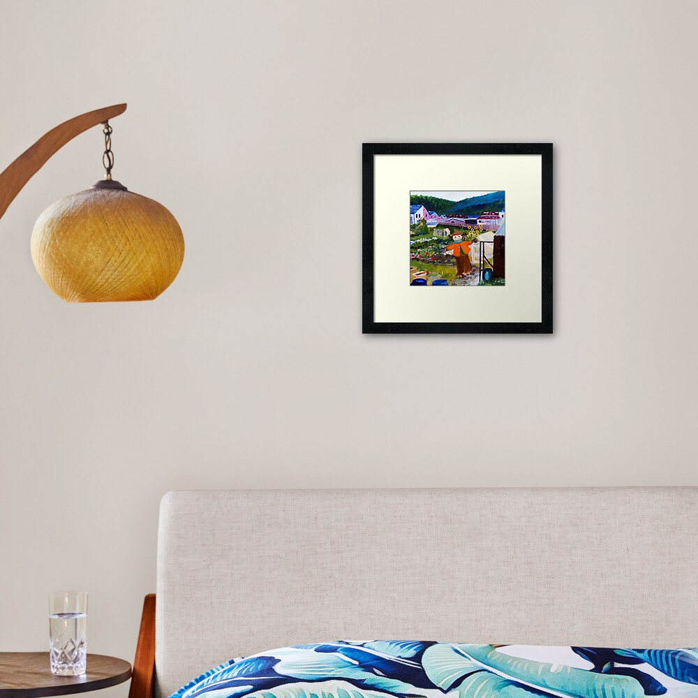 At the bottom of the allotment Framed Art Print