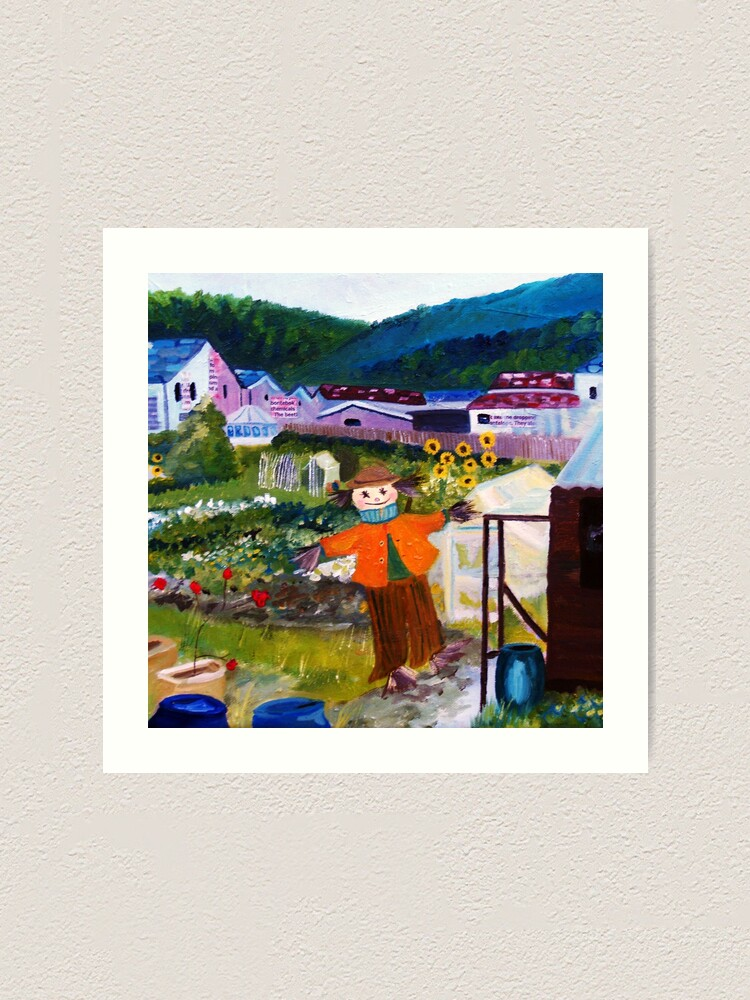 Alternate view of At the bottom of the allotment Art Print