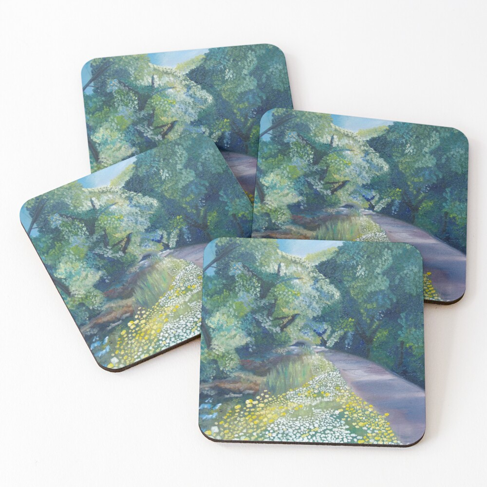 Step into Spring Coasters (Set of 4)